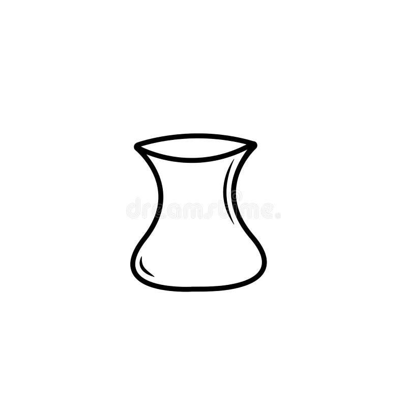Tevektor Vit bakgrund Isolerad vektor royaltyfri illustrationer