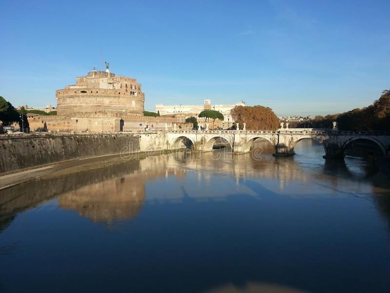 Tevere , Roma. View of Tevere river at Roma royalty free stock image