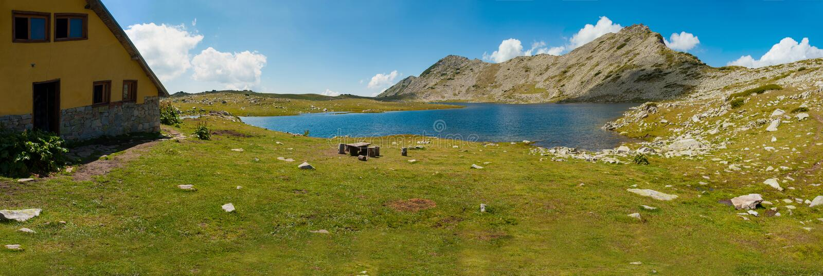 Tevno Lake Panorama royalty free stock images