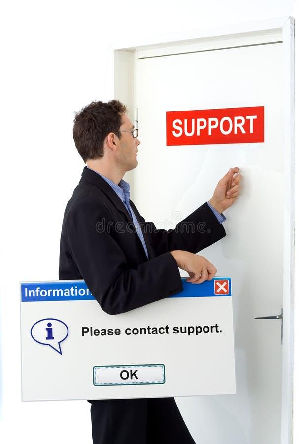 Tevreden om steun te contacteren. royalty-vrije stock fotografie