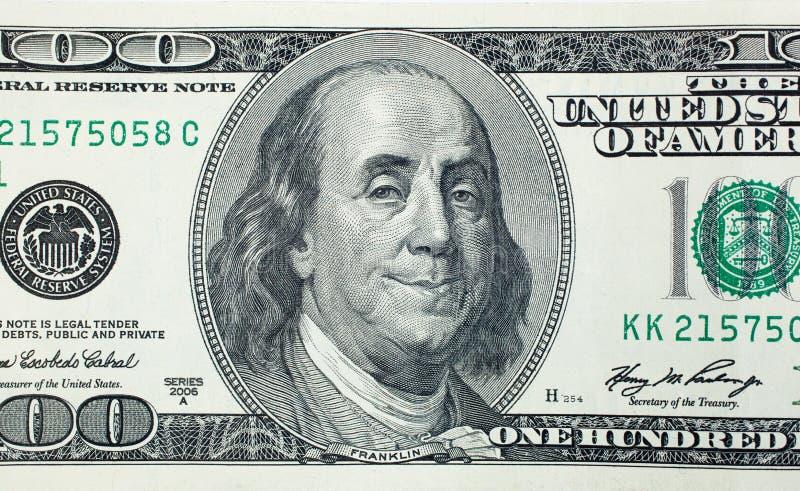 Tevreden President Benjamin Franklin royalty-vrije stock fotografie