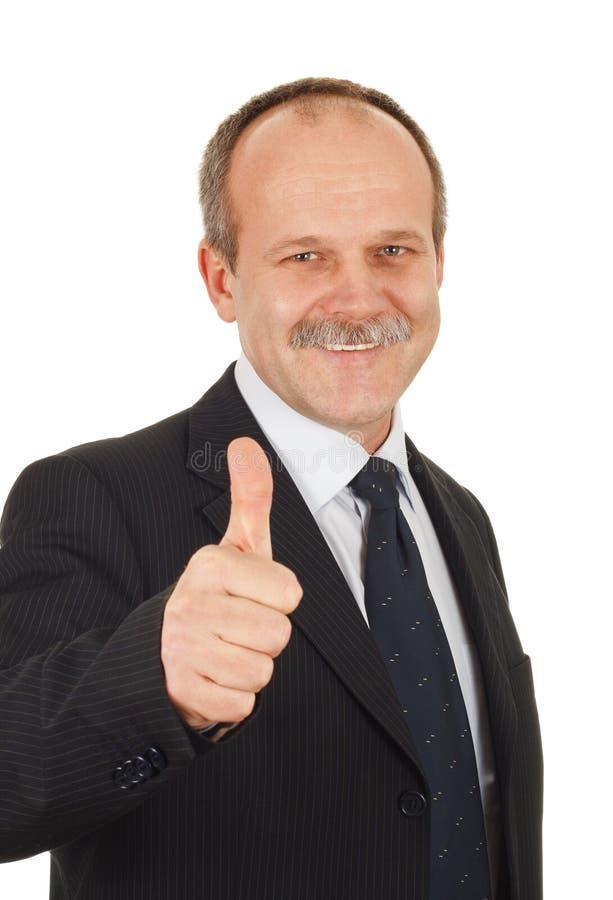 Tevreden zakenman stock foto's