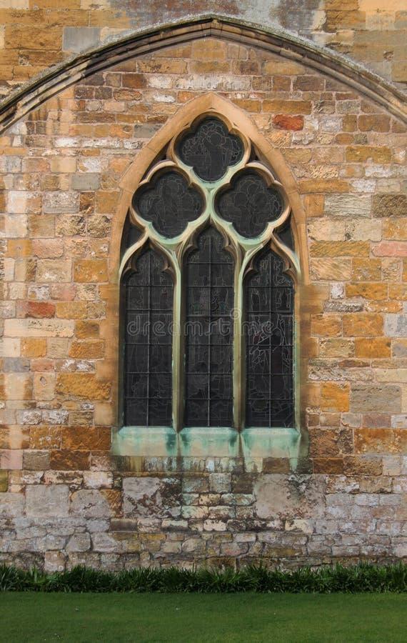Tewkesbury修道院,英国,建筑细节 免版税库存图片