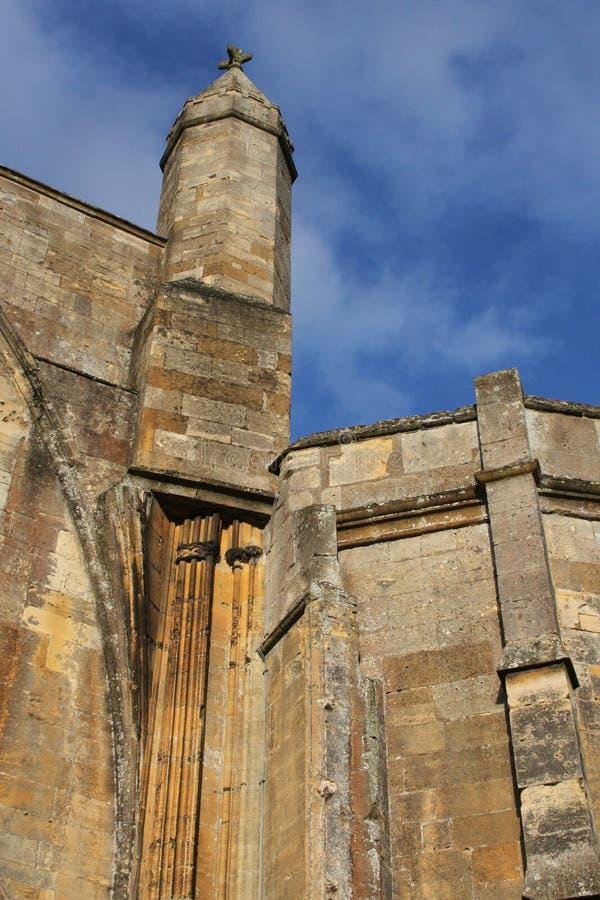 Tewkesbury修道院,英国,建筑细节 免版税图库摄影