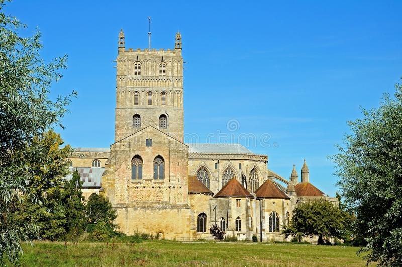 tewkesbury的修道院 库存照片