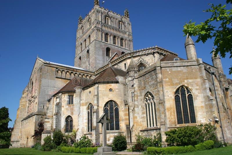 Tewkesbury abbey stock photography