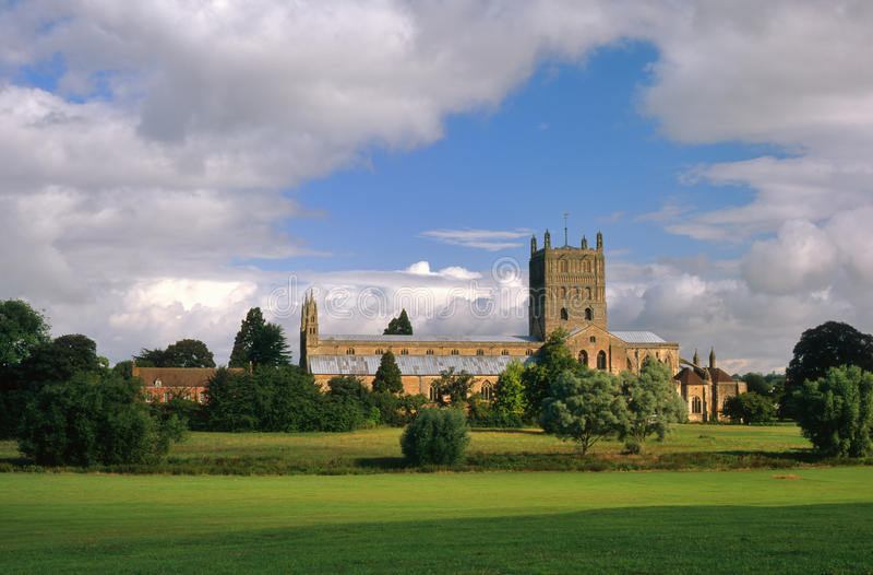 Tewkesbury Abbey, Gloucestershire, England stock photos