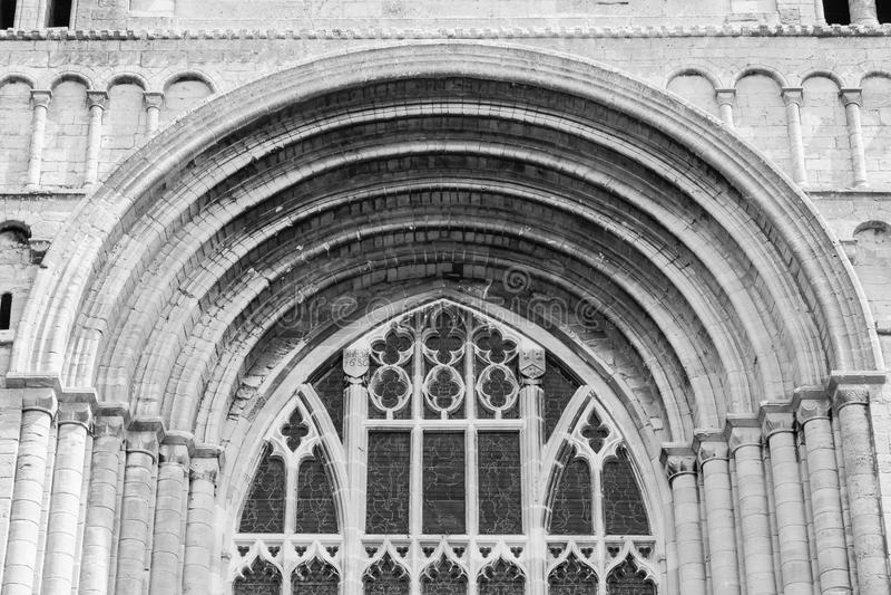 Tewkesbury Abbey Norman Arch A photos stock
