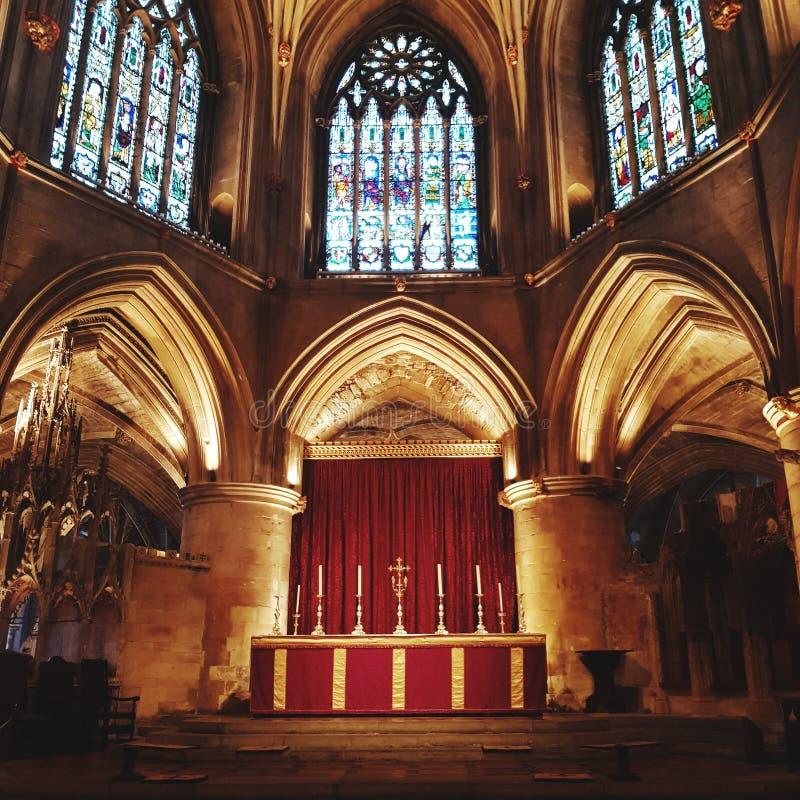 Tewkesbury abbey stock image