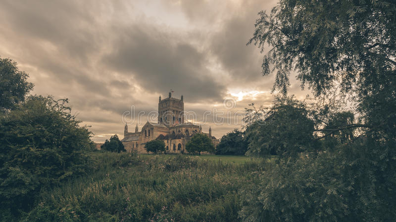 Tewkesbury Abbey South View A photos stock