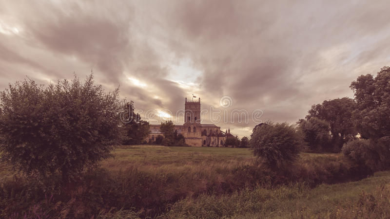 Tewkesbury Abbey South View E images stock