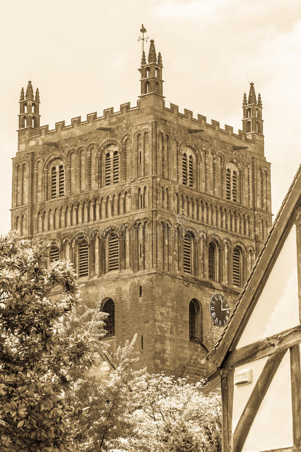Tewkesbury Abbey Tower B photographie stock