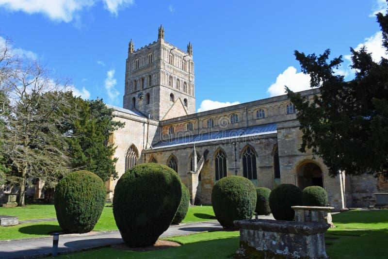 tewkesbury abbeyengland gloucestershire fotografering för bildbyråer