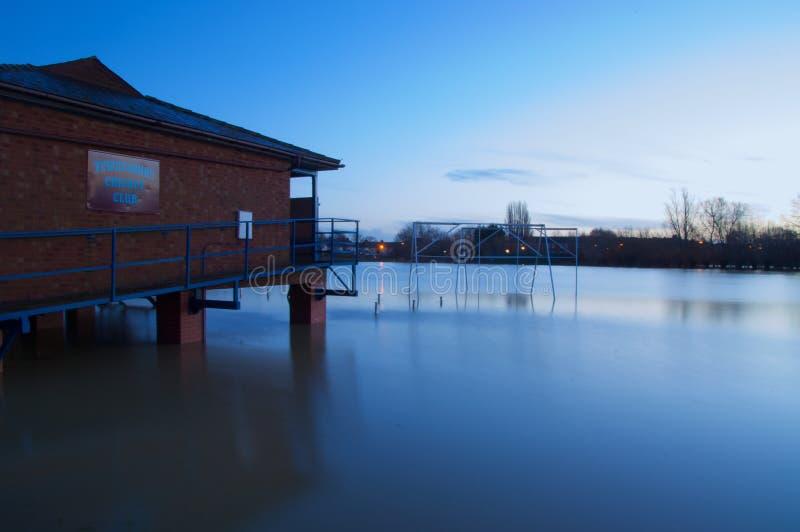 Tewkesbury flodgryning arkivfoto