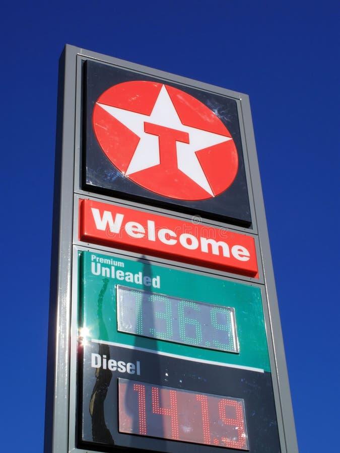 Texaco petrol station sign stock images