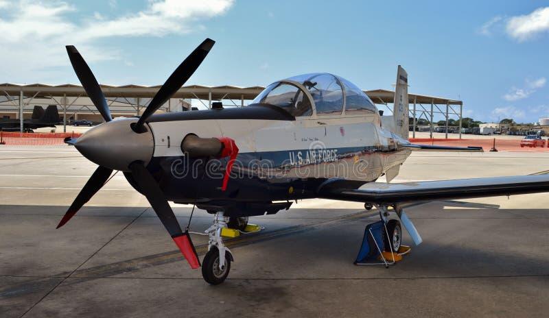 Texan de la fuerza aérea T-6 II imagen de archivo