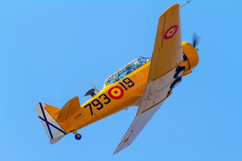 Texan De Los Aviones T-6 Fotografía editorial