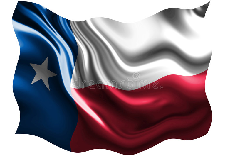 Texan flag stock illustration