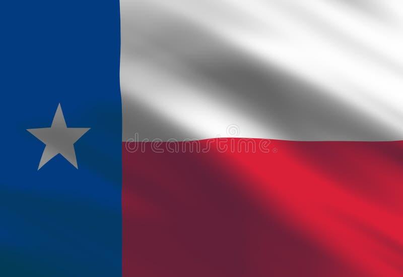 Texan flag royalty free illustration