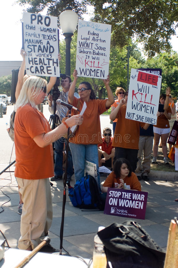 Texan Pro-Choice Protestors