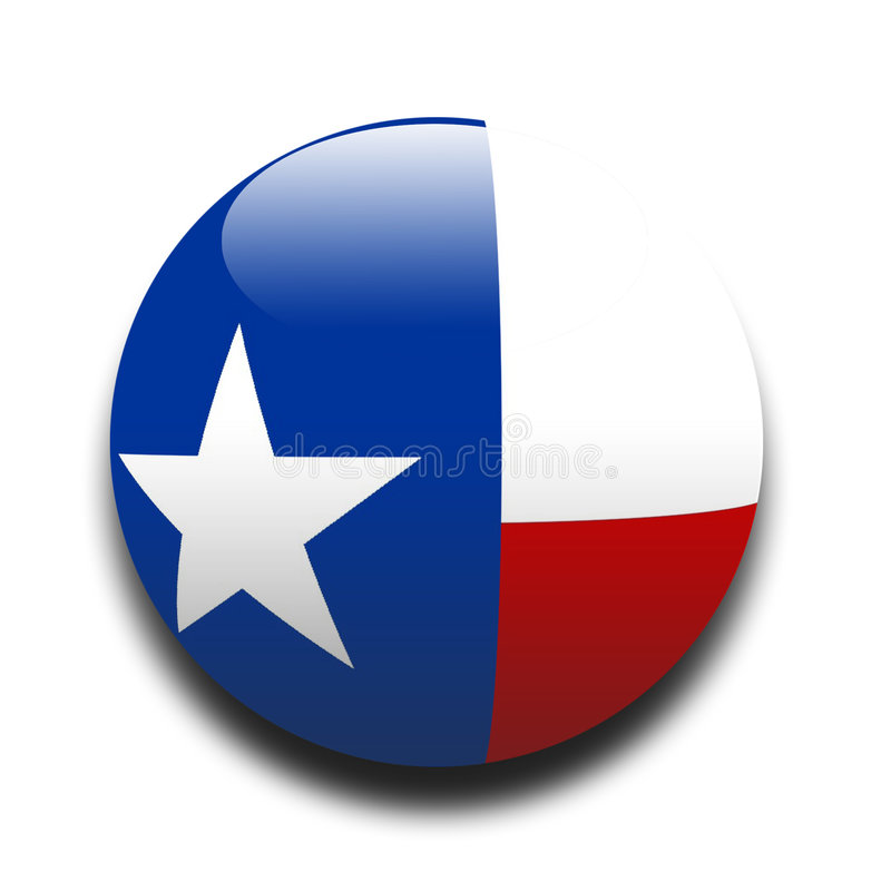 Texan vlag vector illustratie