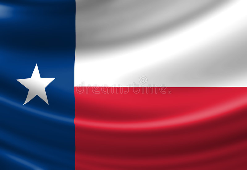 Texanen sjunker royaltyfri illustrationer