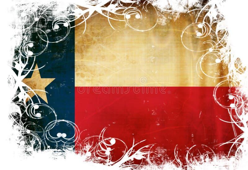 Texanflagga vektor illustrationer