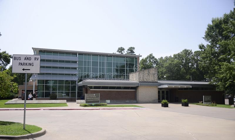 Texarkana Texas Welcome Center. Texarkana is a city in Bowie County, Texas, United States, located in the Ark-La-Tex region. It is a twin city with neighboring stock photo