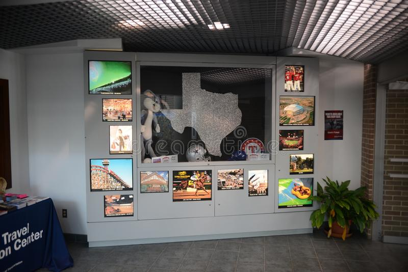 Texarkana Texas Welcome Center Display immagine stock libera da diritti