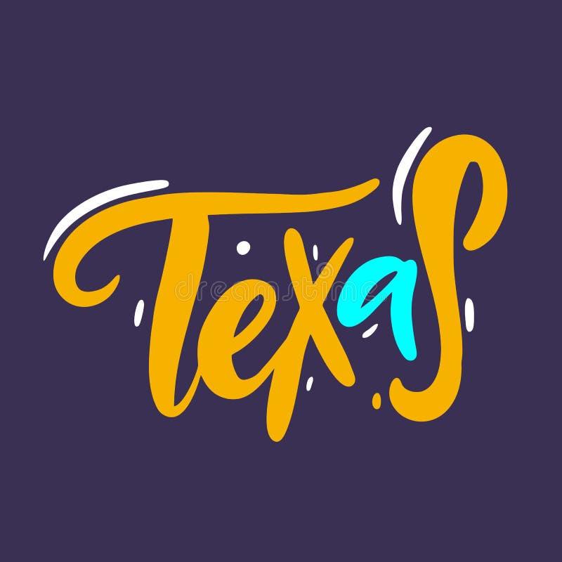 texas Литерность вектора руки вычерченная E Дизайн для плаката, поздравительной открытки, знамени иллюстрация штока