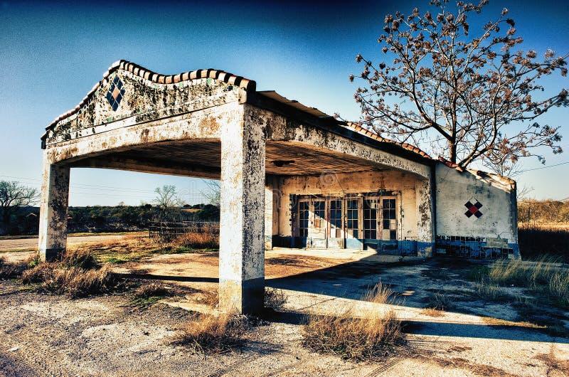 Texas Back Roads Gas Station abandonado imagens de stock