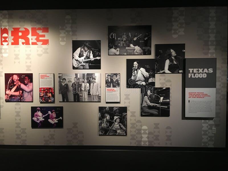 Texas Blues History en el museo nacional de los azules foto de archivo