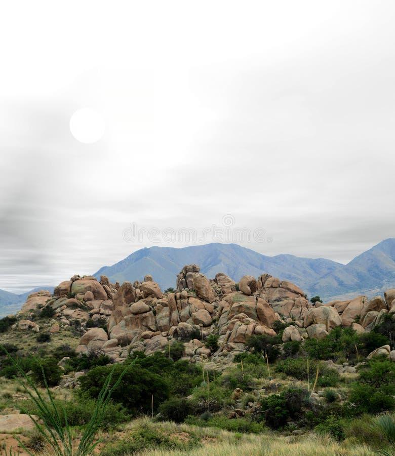 Texas Canyon Sonora Desert Arizona. Texas Canyon in the Sonora desert in central Arizona USA stock photo