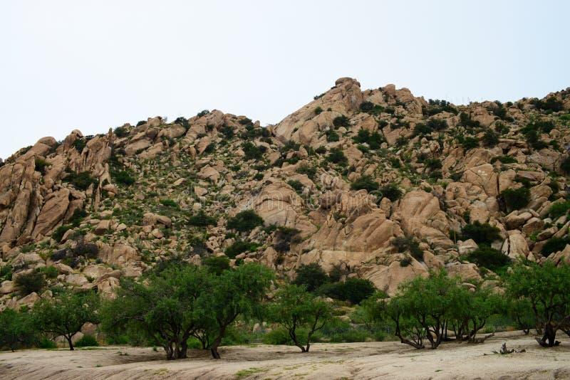 Texas Canyon Sonora Desert Arizona. Texas Canyon in the Sonora desert in central Arizona USA royalty free stock photography