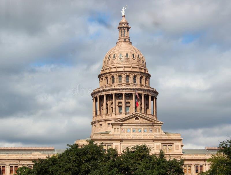 Texas Capital Building Austin. Texas Capital building in Austin against a cloudy sky stock photos