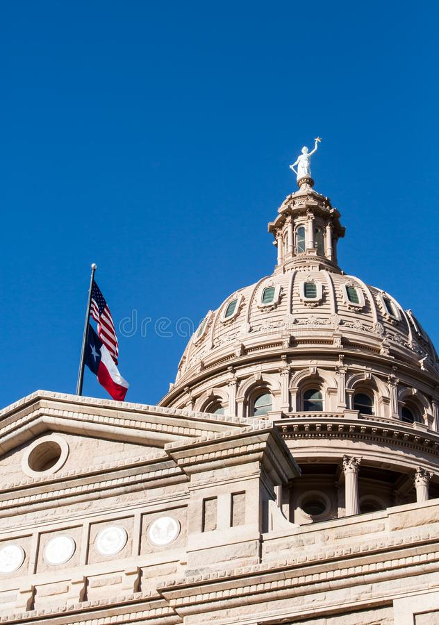 Texas Capitol Dome i Austin Texas arkivfoto