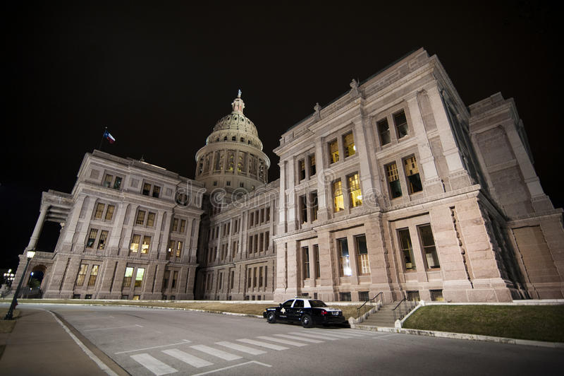 Texas Capitol-Nordwestecke stockfotos