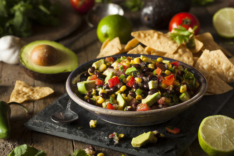 Texas Caviar Been Dip fait maison photographie stock libre de droits