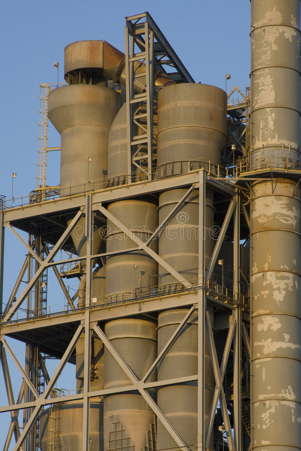 Texas Cement Factory Stock Image. Image Of Production