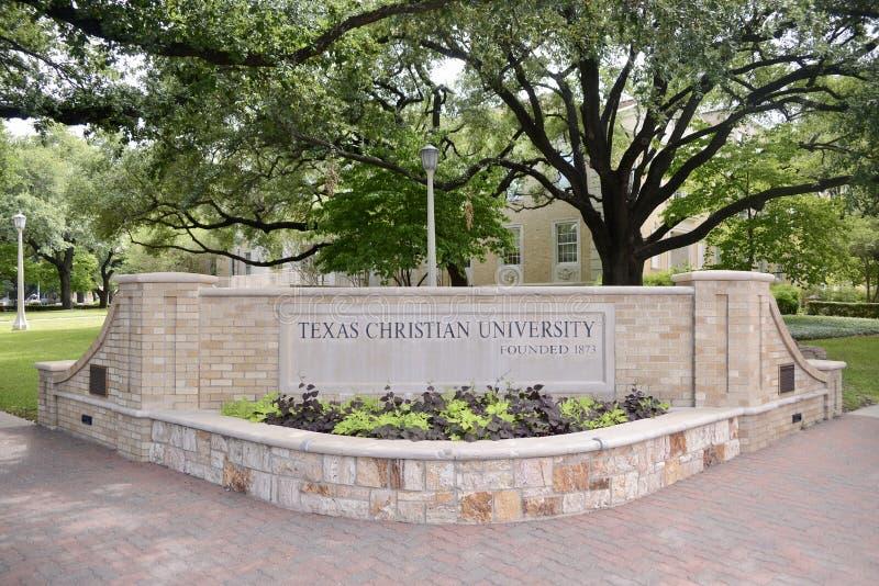 Texas Christian University, escuela de la excelencia imagen de archivo