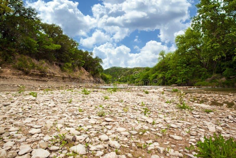 Texas Creek Bed imagens de stock royalty free