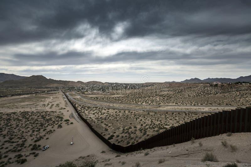 Texas - El Paso - The border. With mexico and the border patrol royalty free stock photo