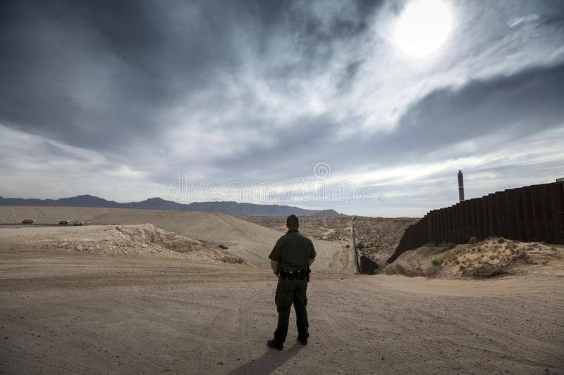 Texas - El Paso - The border. With mexico and the border patrol stock image