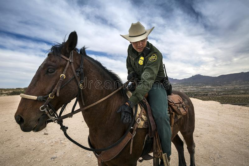 Texas - El Paso - die Grenze stockbilder