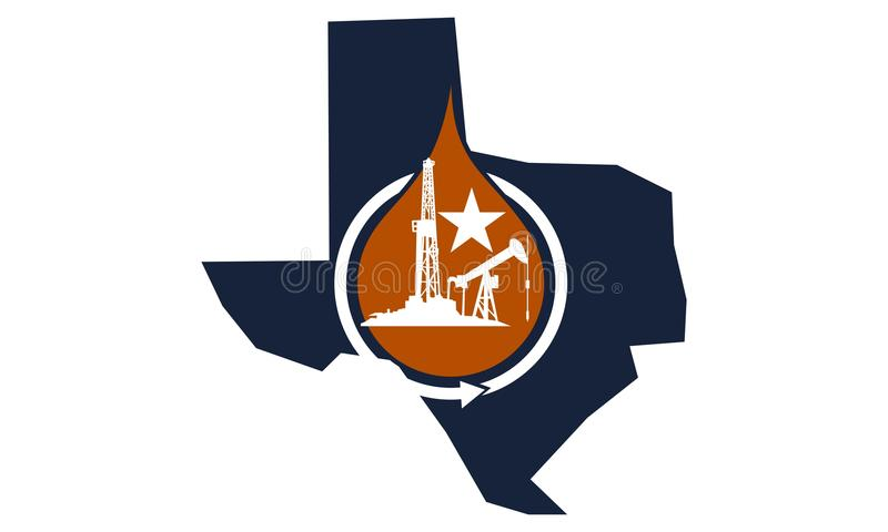 Texas Energy Advantage Oil Mining vector illustratie