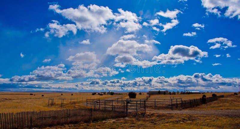Texas Farm Lands dans le Panhandle du Texas image stock