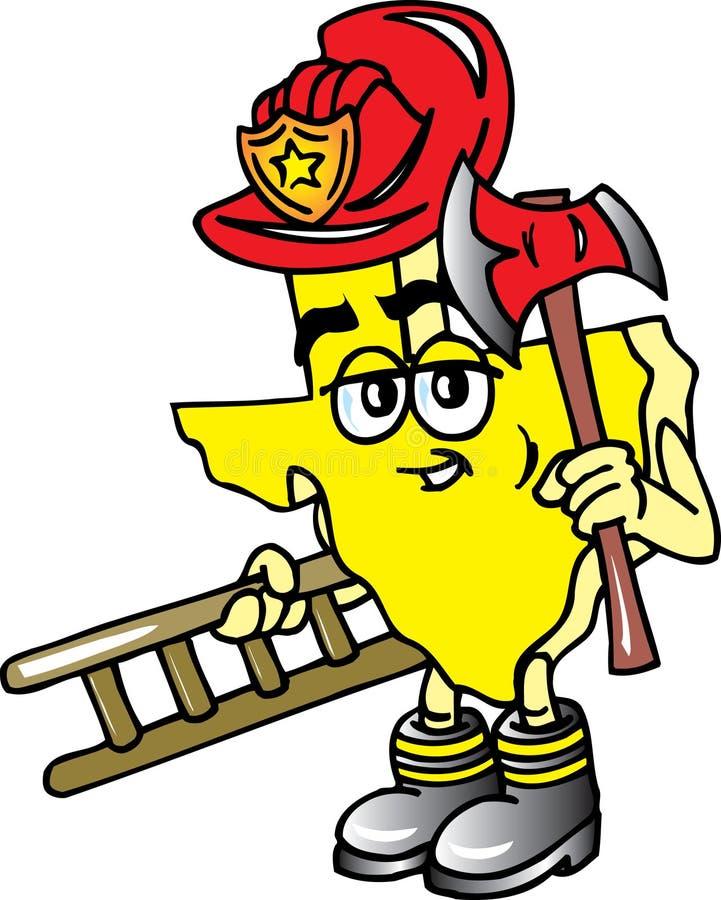 Texas-Feuerwehrmann stock abbildung