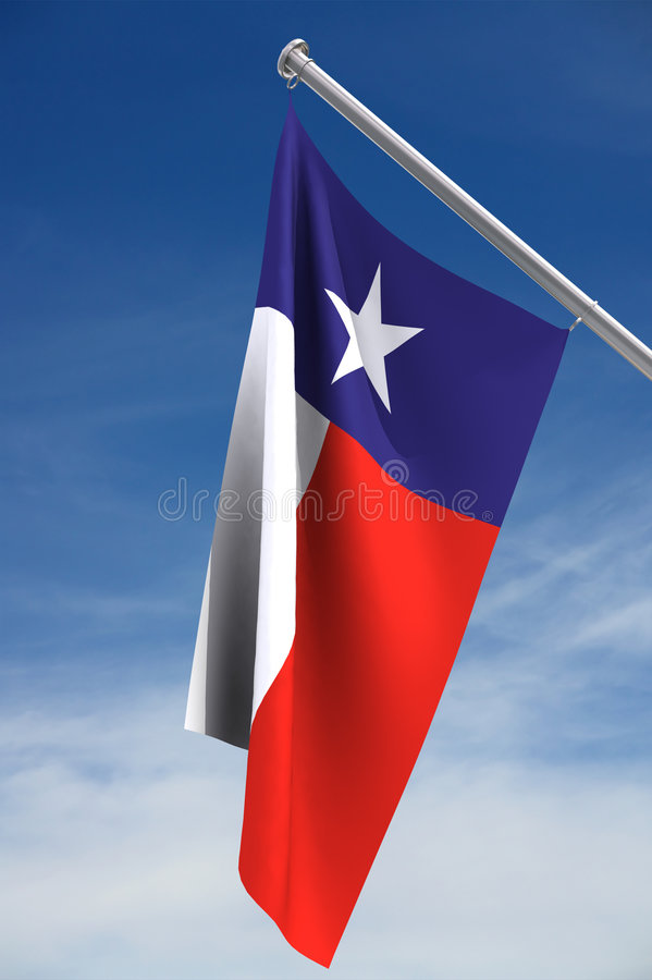 Download Texas Flag stock illustration. Image of pole, banner, cloud - 2345029