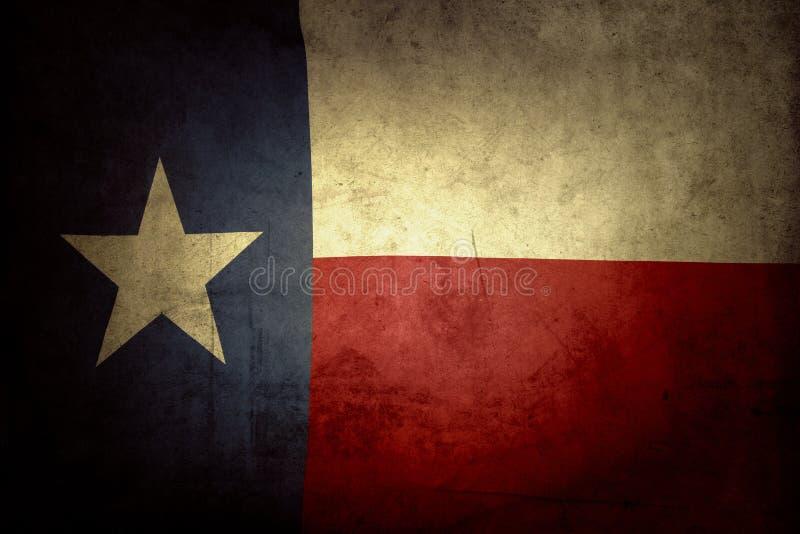 Texas flag. Closeup of grunge Texas flag stock photo