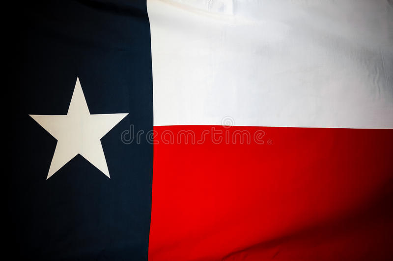 Texas flag. Closeup of silky Texas flag stock images